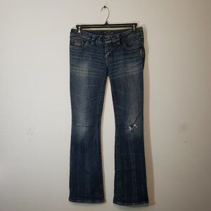 Silver size 28 distressed Tuesday bootcut jeans